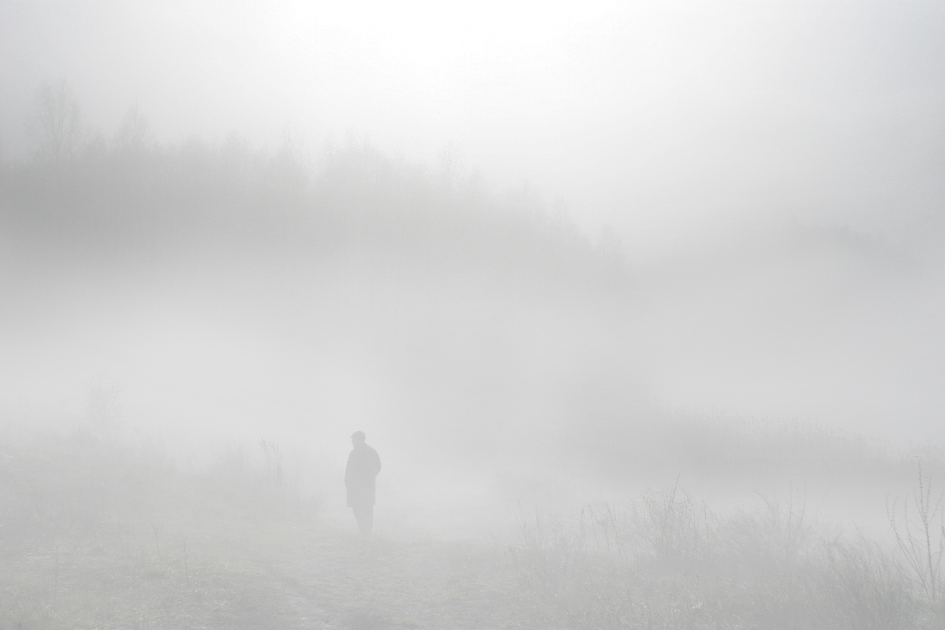Walking in fog