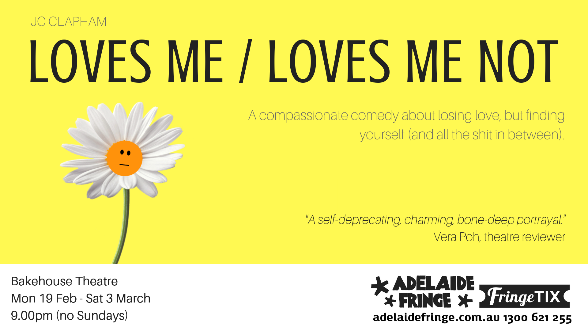 Review: LOVES ME / LOVES ME NOT at Adelaide Fringe